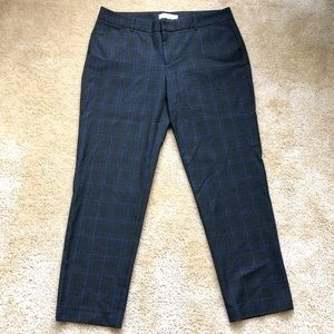 Gap Slim Pants Stretch Plaid Dress Trouser 6